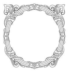 Vintage frame in floral victorian style vector