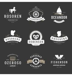 Vintage Logos Design Templates Set design vector