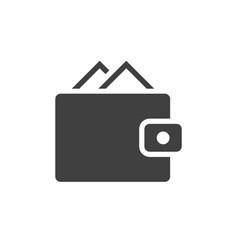 wallet black icon vector image