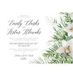 Wedding invite save the date card delicate design vector
