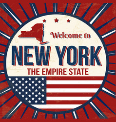welcome to new york vintage grunge poster vector image