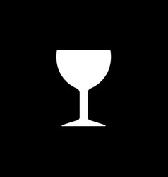 Wine glass or stemware design ready for icon logo vector