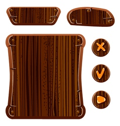 Wooden game assets-1 vector