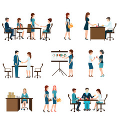 business meeting design vector image vector image
