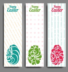 Grunge vertical banners set with ornamental easter vector image
