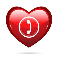 heart calling vector image vector image