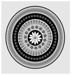 Circular lace pattern vector image