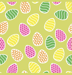 easter seamless pattern with small holiday eggs vector image vector image