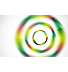 Glossy blurred swirl circle shapes abstract vector image vector image