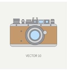 Line flat icon with retro analog film vector image