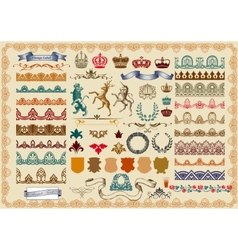 Set of page decoration vector image vector image