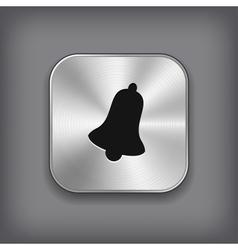 Bell icon - metal app button vector image vector image