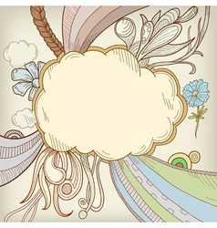 cartoon cloudscape vector image