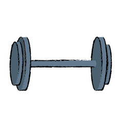 dumbbell weight gym equipment image vector image vector image