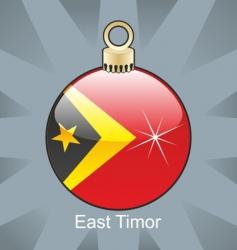 east Timor flag on bulb vector image vector image