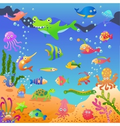 in the sea vector image