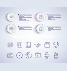 infographic with text icons vector image