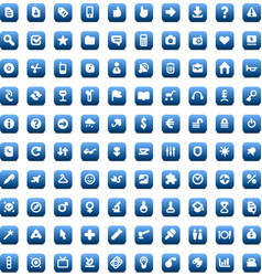 Set of 100 icons for web and interface vector image vector image