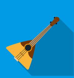 balalaika icon in flat style isolated on white vector image