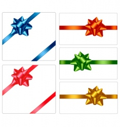 bows and ribbons vector image vector image