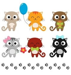 Cartoon kittens vector image vector image
