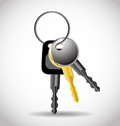 Collection of keys vector image