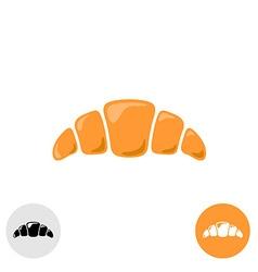Croissant logo vector image vector image