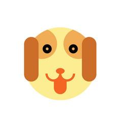 dog cartoon animal head vector image vector image