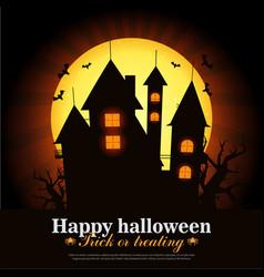 halloween card art vector image