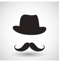 hipster mustache vector image