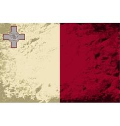 Maltese flag Grunge background vector image vector image