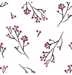 Seamless hand floral pattern vector image