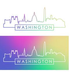 washington skyline colorful linear style vector image