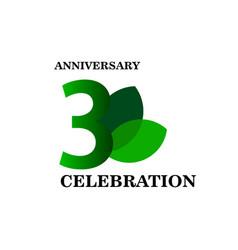 3 year anniversary celebration template design vector