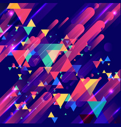 abstract colorful elements and creative modern vector image