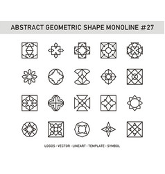 Abstract geometric shape monoline 27 vector
