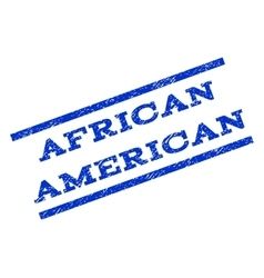 African American Watermark Stamp vector image