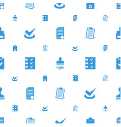 Agreement icons pattern seamless white background vector
