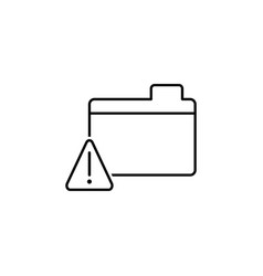 alert files warning outline icon signs and vector image