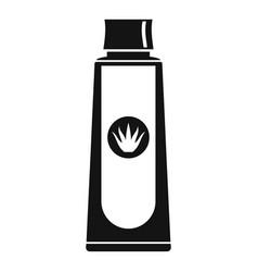 Aloe shampoo icon simple style vector