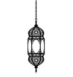 arabian lantern vector image