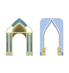 Arch construction vector image