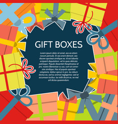 background with a colorful gift boxes vector image