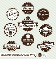 Basketball Champs Labels vector image