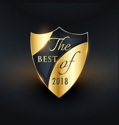 best of the year golden badge or label design vector image