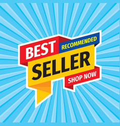 best seller recommended - layout concept vector image