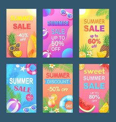 best summer offer discount vector image