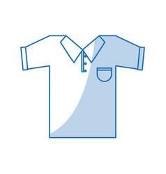 blue shading silhouette cartoon golf t-shirt sport vector image