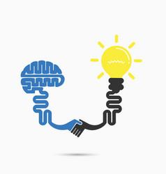Brain amp light bulb vector
