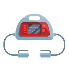 Breath defibrillator icon cartoon style vector
